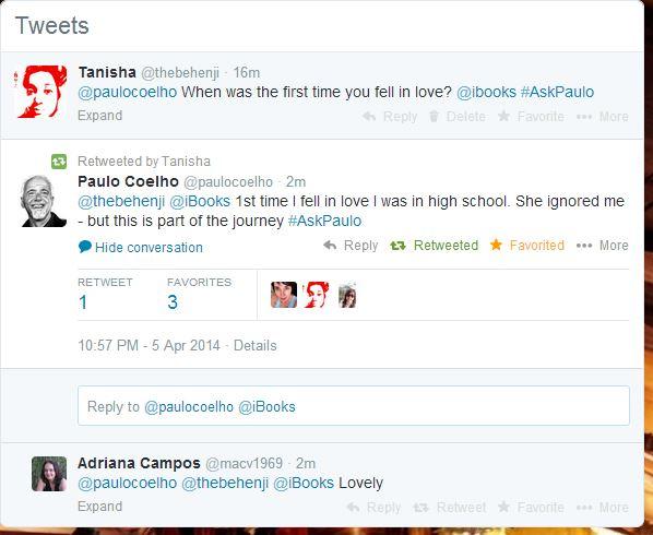 Paulo Coelho's Awesome One Liner via Twitter